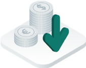 reduced operational spend icon